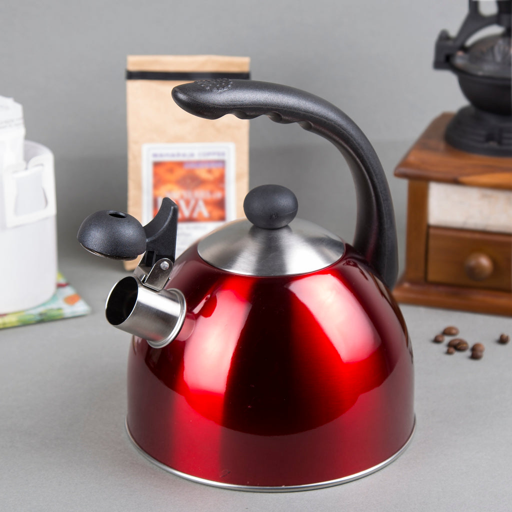 Creative Home Rhapsody 2.1 Qt Stainless Steel Whistling Tea Kettle - Metallic Cranberry