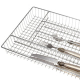 Creative Home 5 Compartments Cutlery Tray, Medium in Chrome Finish