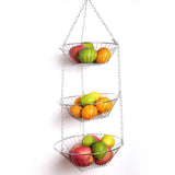 Creative Home Chrome Works 3 Tier Hanging Basket