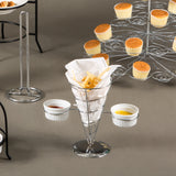 Creative Home Works French Fry Set Single Cone Holder with 2 Ceramic Ramekins