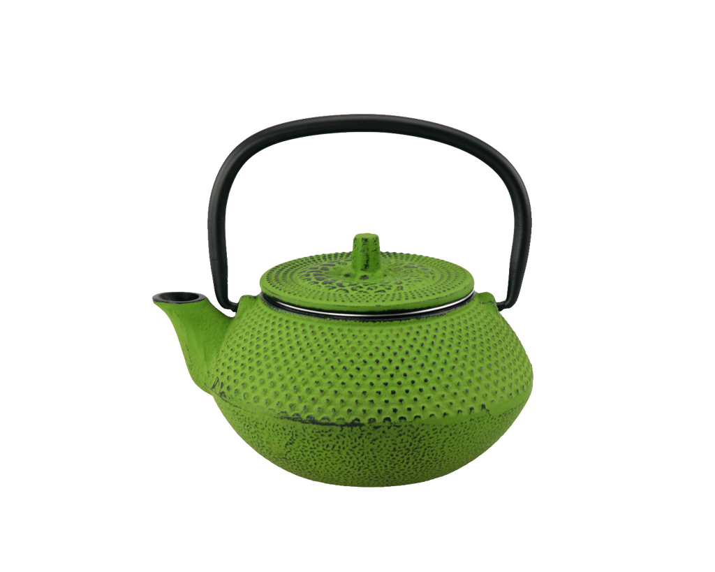 Creative Home 10 oz. Cast Iron Tea Pot with Removable Stainless Steel Infuser Basket,