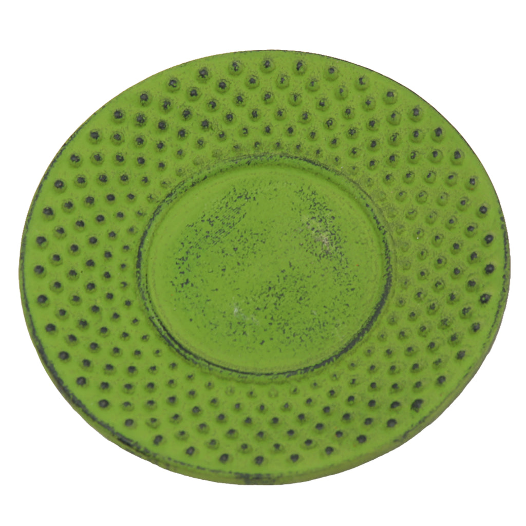 "Creative Home Cast Iron 3.75"" Round Trivet- Green"