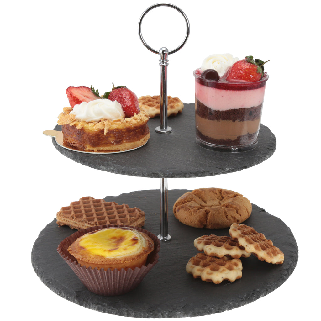 Creative Home 2-Tier Slate Cake Stand
