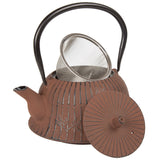 Creative Home Cast Iron Tea Pot with Stainless Steel Infuser Basket, 40 oz