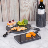 "Creative Home Black Marble 5"" L x 8"" W Cheese Slicer"