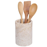 Creative Home Champagne Marble Utensil Holder