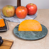 "Creative Home Natural Green Marble 8"" Diam. Round Trivet, Cheese Serving Board"