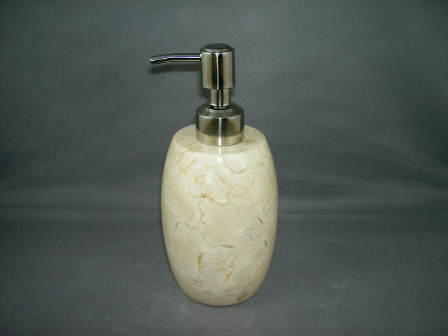 Creative Home Champagne Marble Soap Lotion Dispenser, Bowling shape