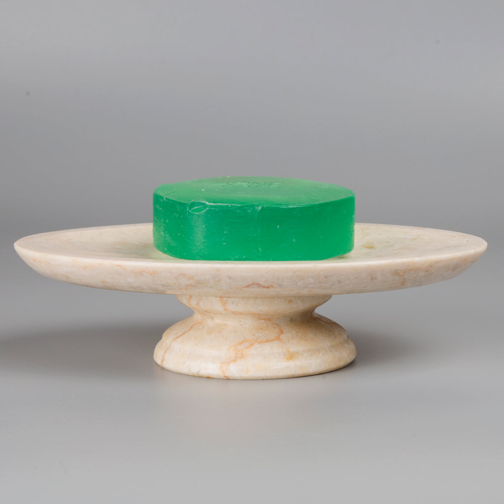 Creative Home Champagne Marble Pedestal Soap Dish