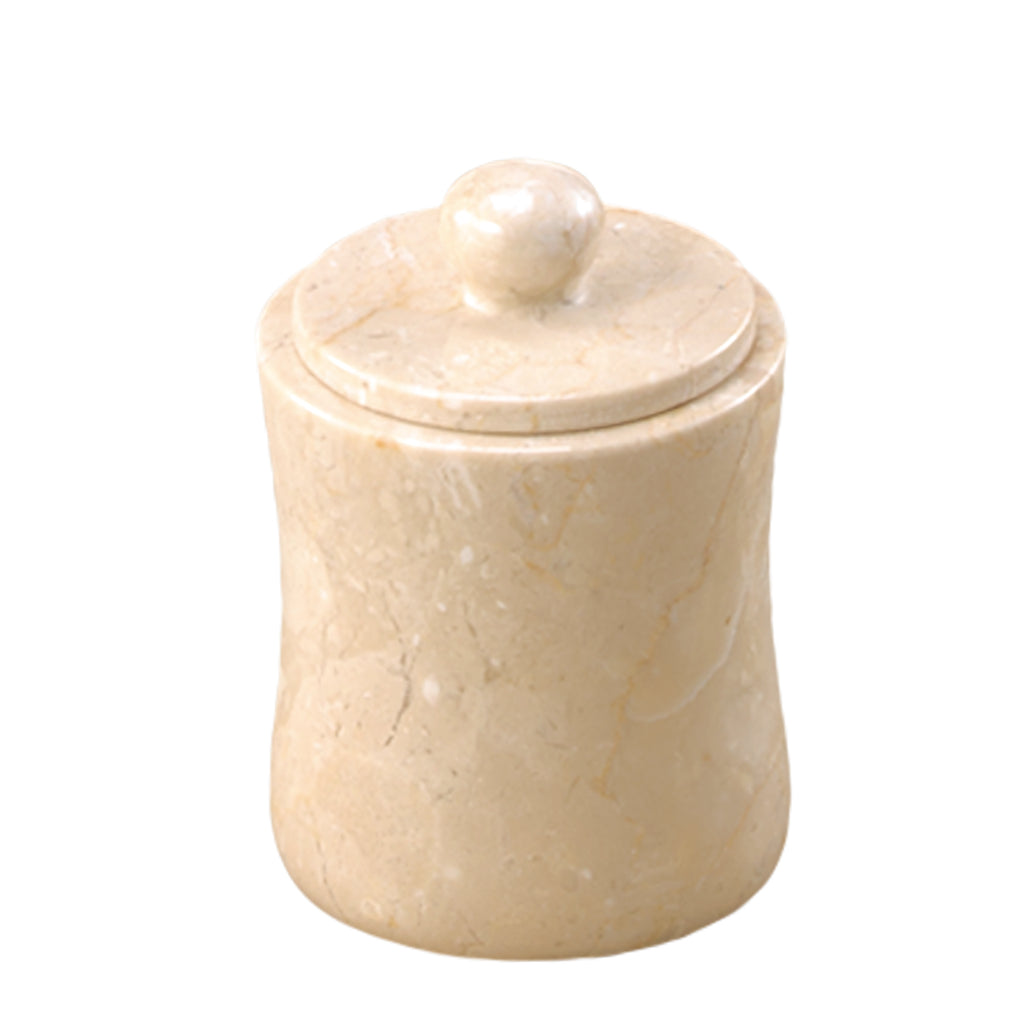 Creative Home Champagne Marble Fenway Cotton Ball Holder