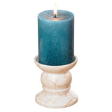 Creative Home Champagne Marble Candle Holder - Matte Finish