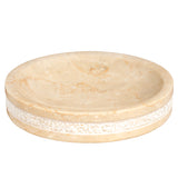 Creative Home Natural Champagne Marble Hand Carved Soap Dish