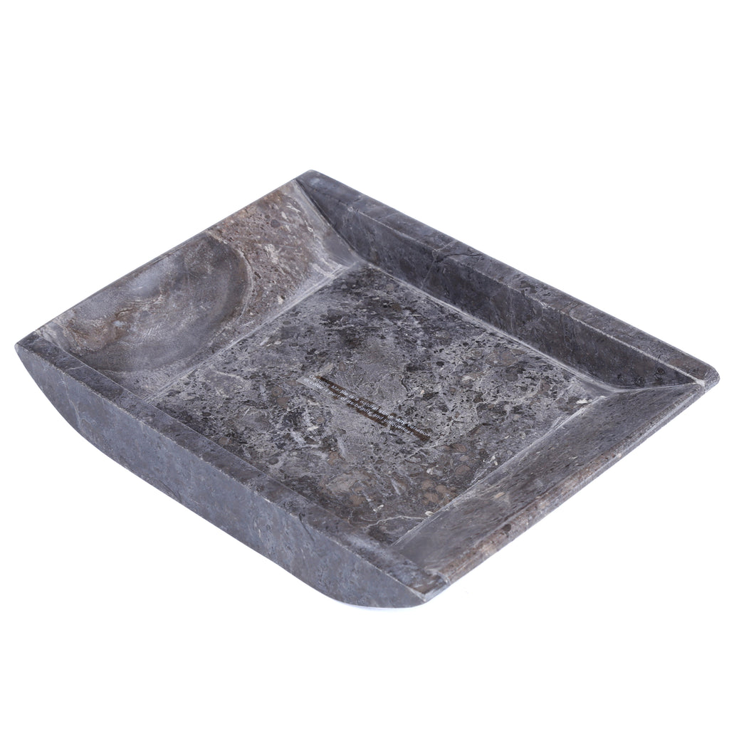 Creative Home Marble Boat Shaped Candle Holder - Charcoal Marble