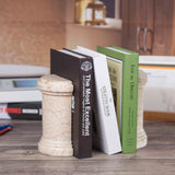Creative Home Champagne Marble SAGANAW Bookends Set