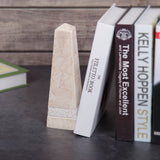 "Creative Home Champagne Marble 10"" Obelisk with Hand Carving"