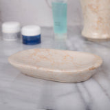 Creative Home Natural Champagne Marble Soap Dish, Soap Tray