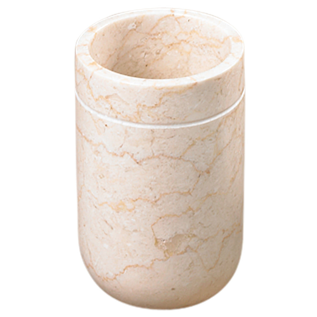 Creative Home Champagne Marble Notch Tumbler