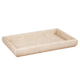 "Creative Home Deluxe Genuine Marble Stone 12"" L x 8"" W Vanity Tray, Guest Towel Tray"