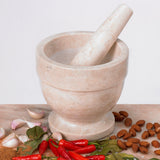 Creative Home Champagne Marble Mortar & Pestle Set