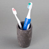 Creative Home Charcoal Marble Stone Tumbler, Toothbrush Holder
