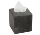 Creative Home Charcoal Marble Square Box Holder Tissue Cover(Defective, with sticker stains on one side)