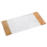 Creative Home Natural Marble and Mango Wood Vanity Organizer Tray,
