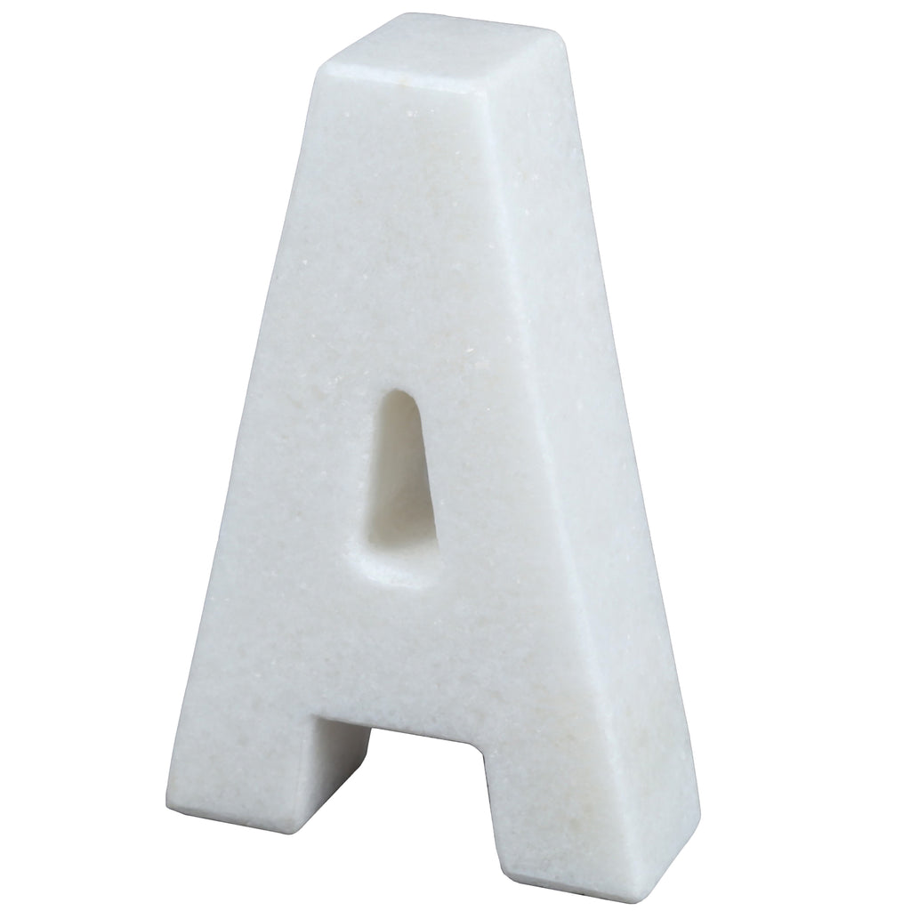 Creative Home Natural Marble Stone Letter A Bookends Paper Weight