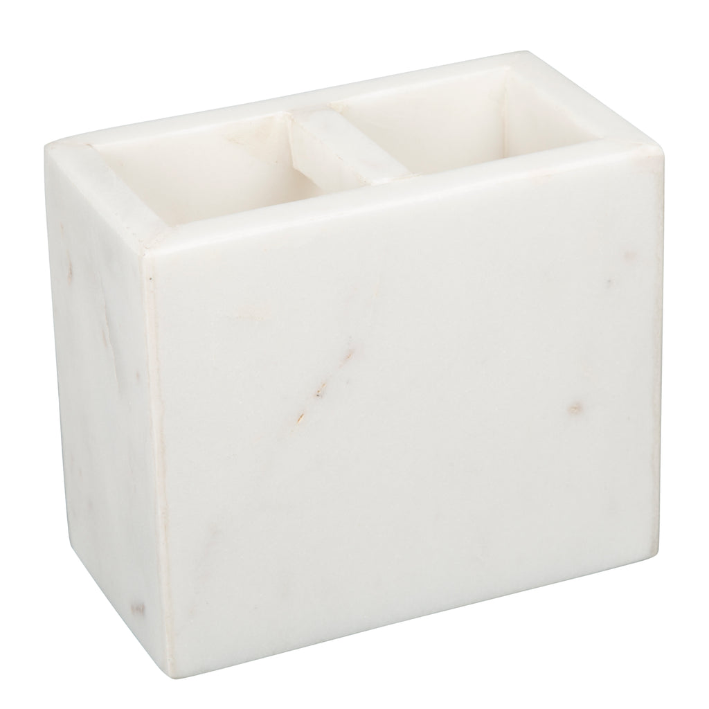 Creative Home Natural Marble Toothbrush Holder Makeup Brush Bathroom Countertop Organize