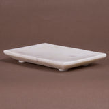 Creative Home Marble Bar Dish Soap Tray Holder for Bathroom Countertop Organize