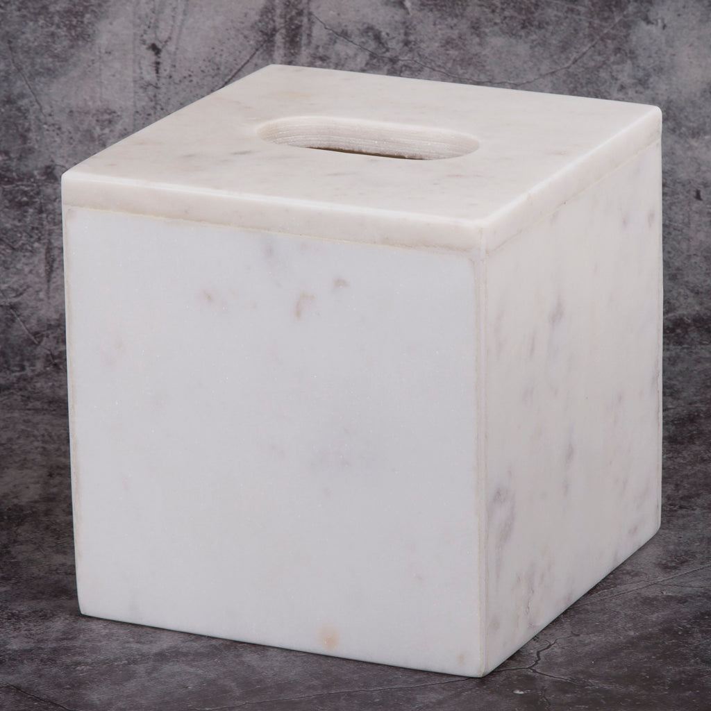 Creative Home Natural Marble Tissue Box Holder, Cover Boutique
