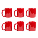 Creative Home Set of 6 Pieces 12 oz. Ceramic Coffee Mug, Tea Cup - Black