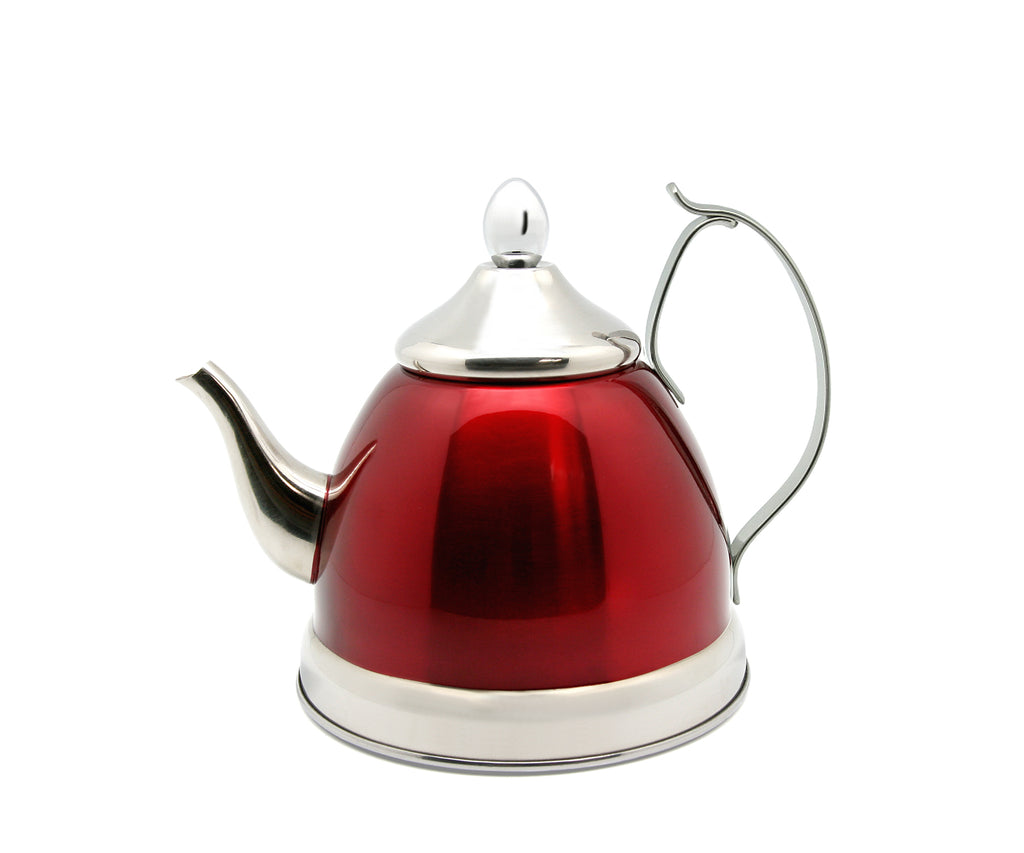 Creative Home Nobili-Tea 1 QT Stainless Steel Tea Kettle with Stainless Steel Infuser