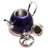 Creative Home Nobili-Tea 1 QT. Stainless Steel Tea Kettle with Stainless Steel Infuser