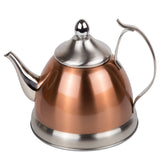 Creative Home 1.0 Qt. Stainless Steel, Copper Tea Kettle with Removable Infuser Basket