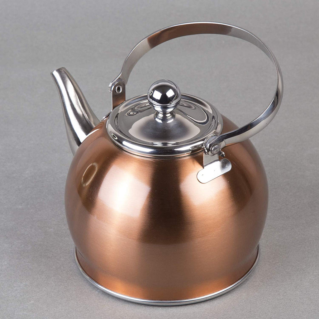 Creative Home Royal Stainless Steel Tea Kettle with Removable, 1.0 Quart,