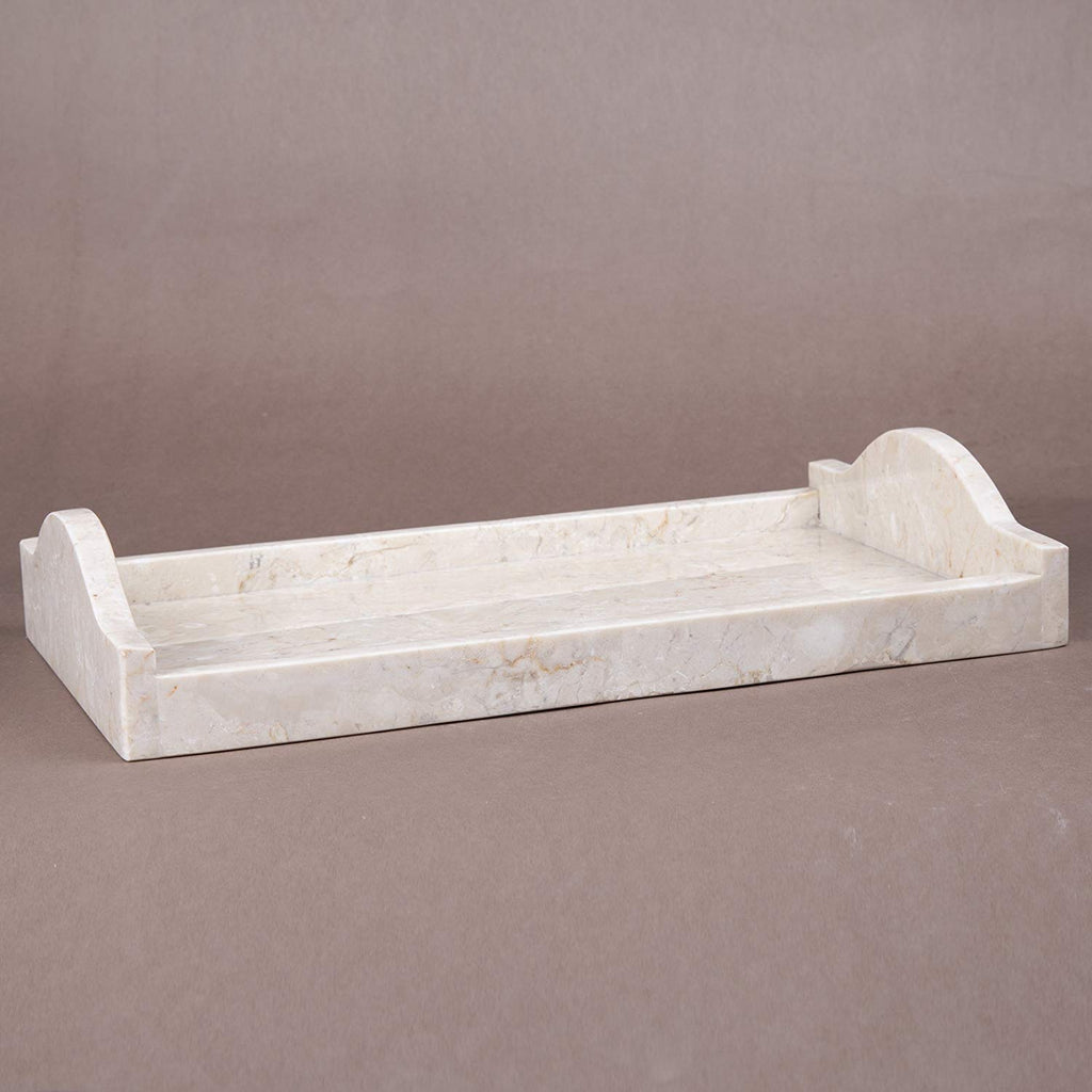 Creative Home Champagne Marble Large Arch Tray