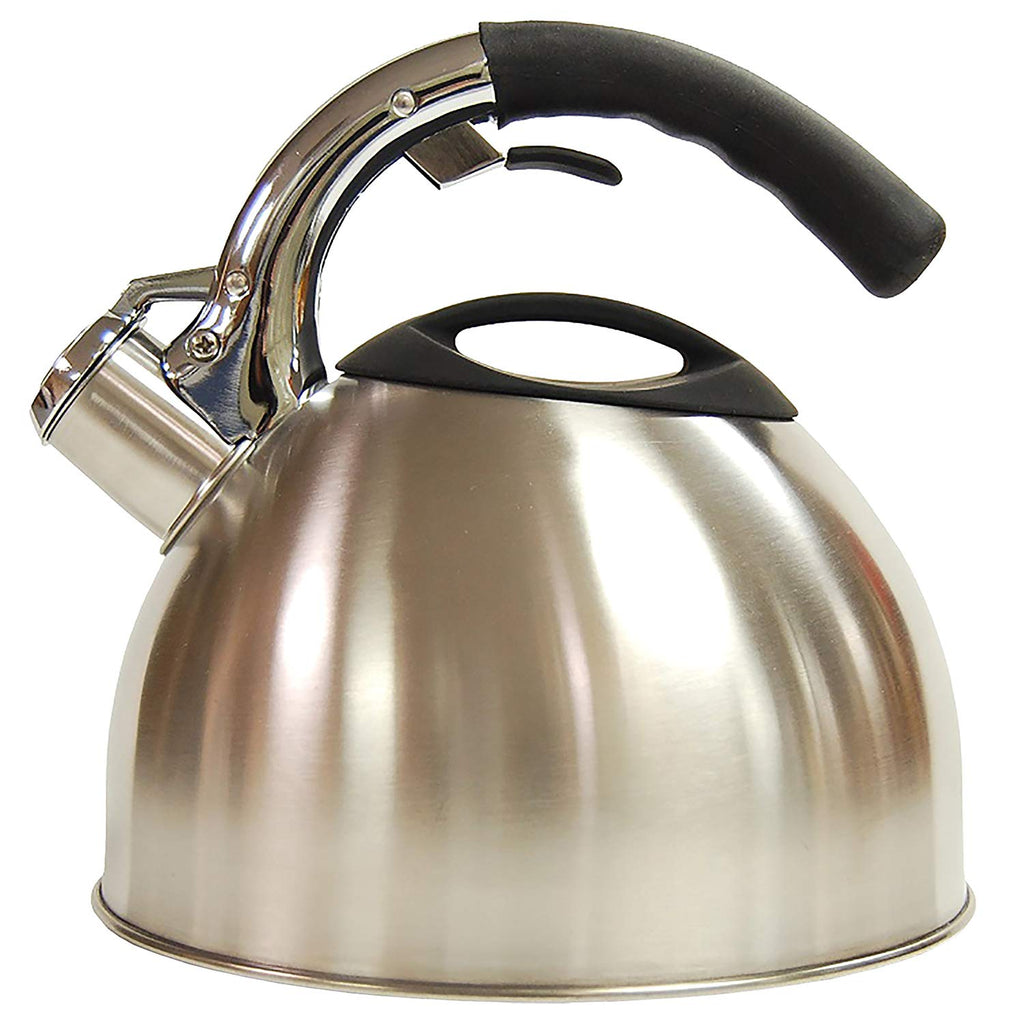 Creative Home Ellipse 2.8 Quart Stainless Steel Whistling Tea Kettle with Aluminum Capsulated Bottom
