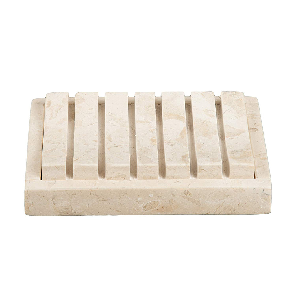Natural Champagne Marble 2 Piece Bar Soap Dish, Soap Tray