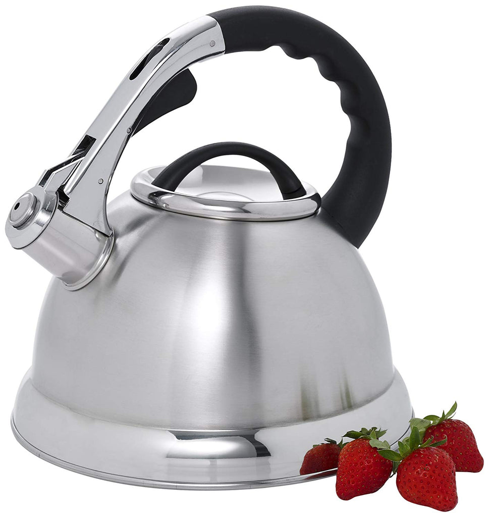 Camille 3.0 Quart Stainless Steel Whistling Tea Kettle with Aluminum Capsulated Bottom