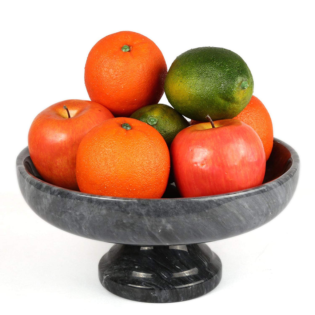 Genuine Natural Marble Fruit Bowl on Pedestal
