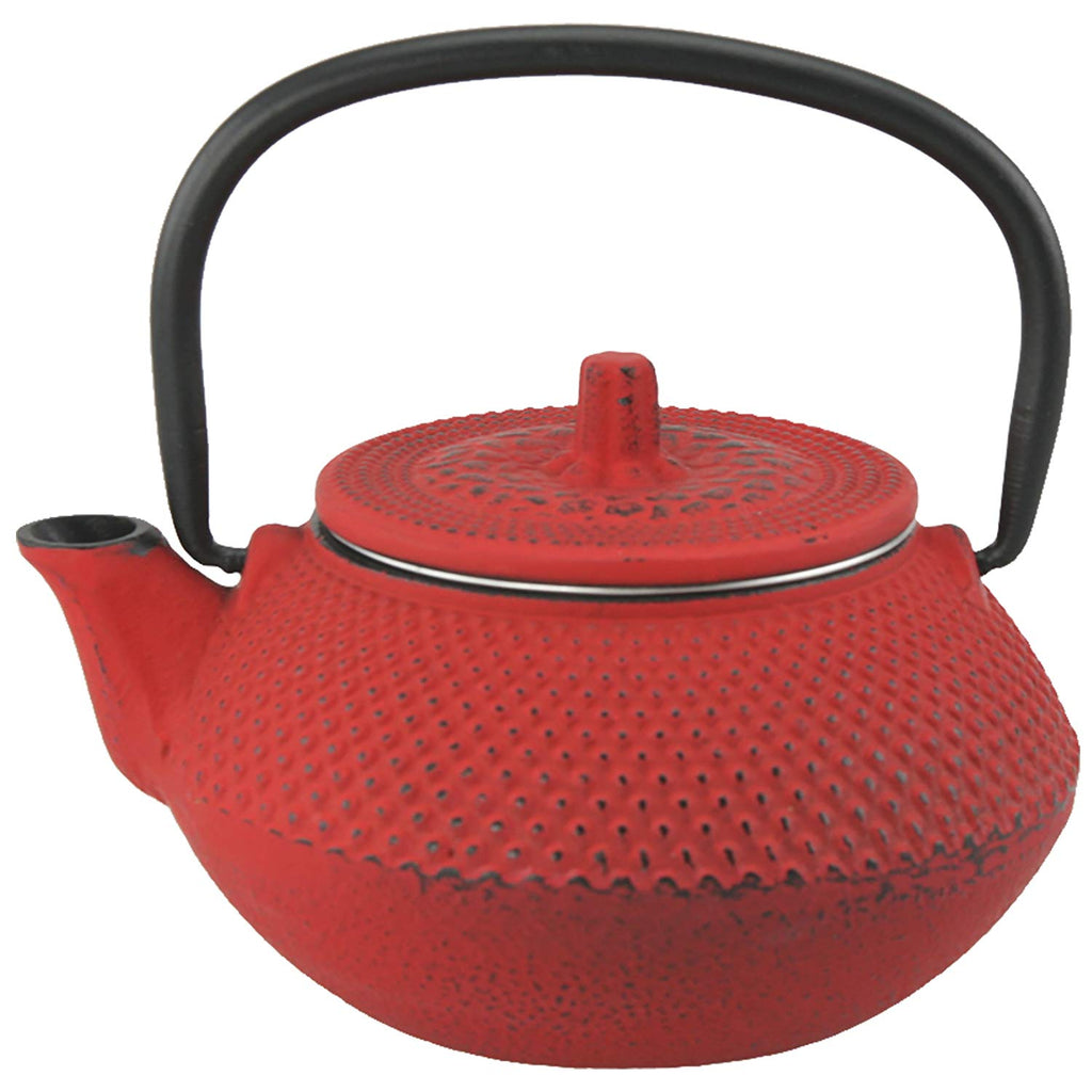 Kyusu Cast Iron Tea Pot, 10 oz., Red