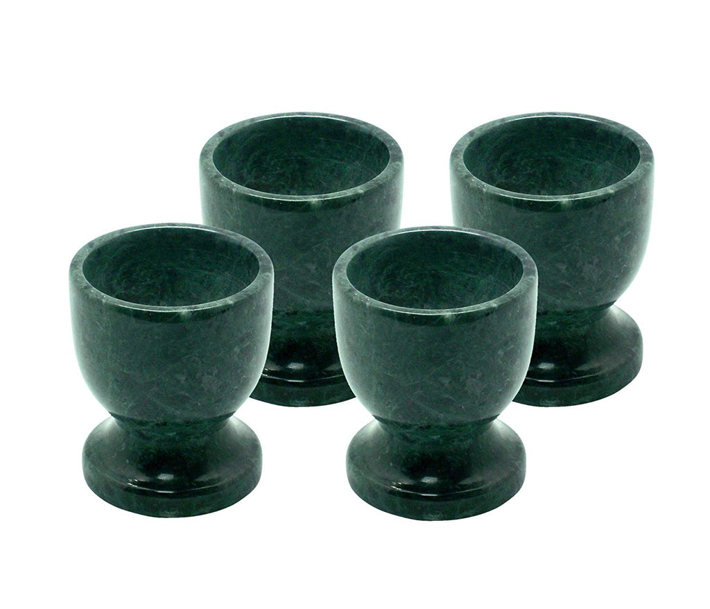 Marble Egg Cup (Set of 4), Green