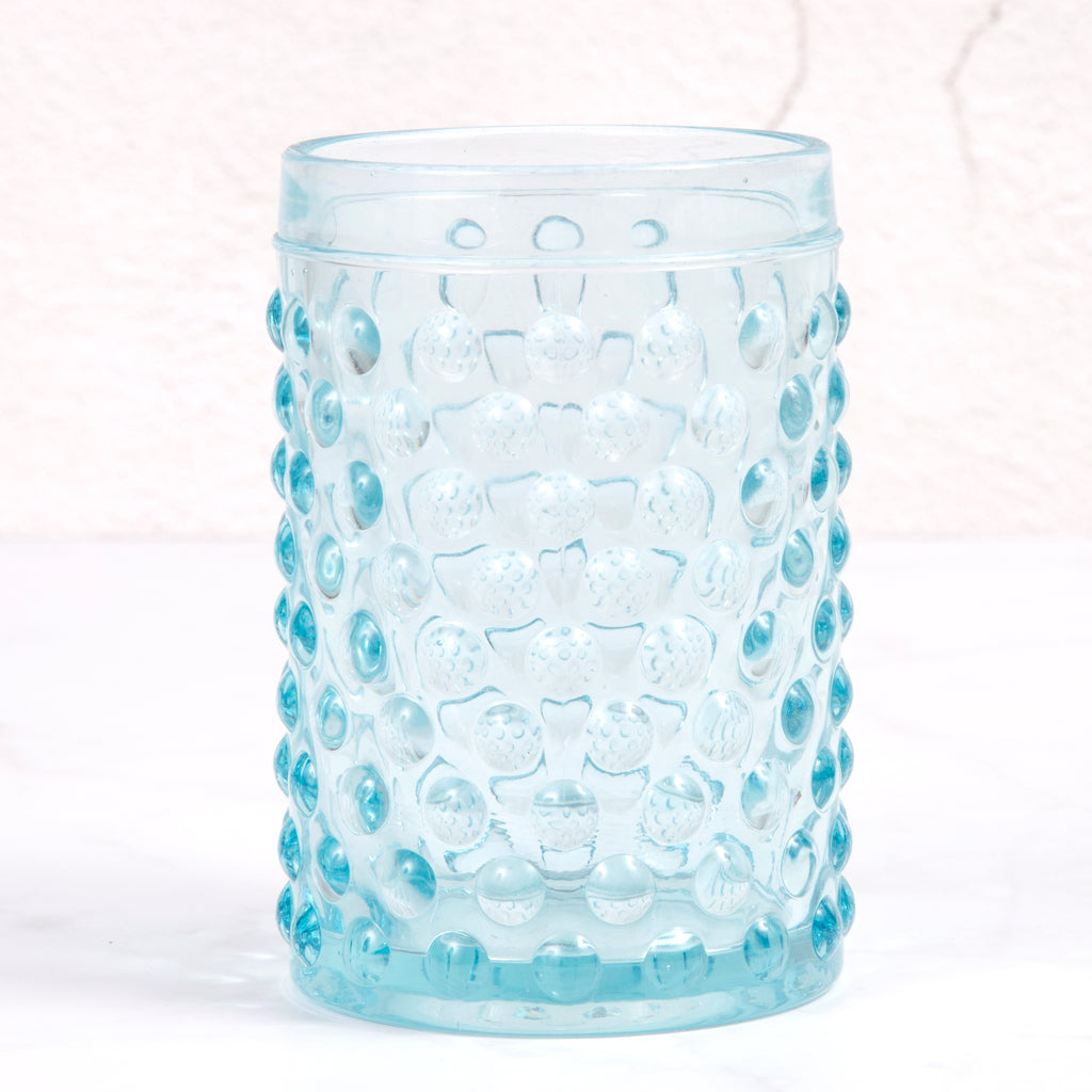 Creative Home Transparent Blue Dot Glass Soap Dish, Soap Tray Holder