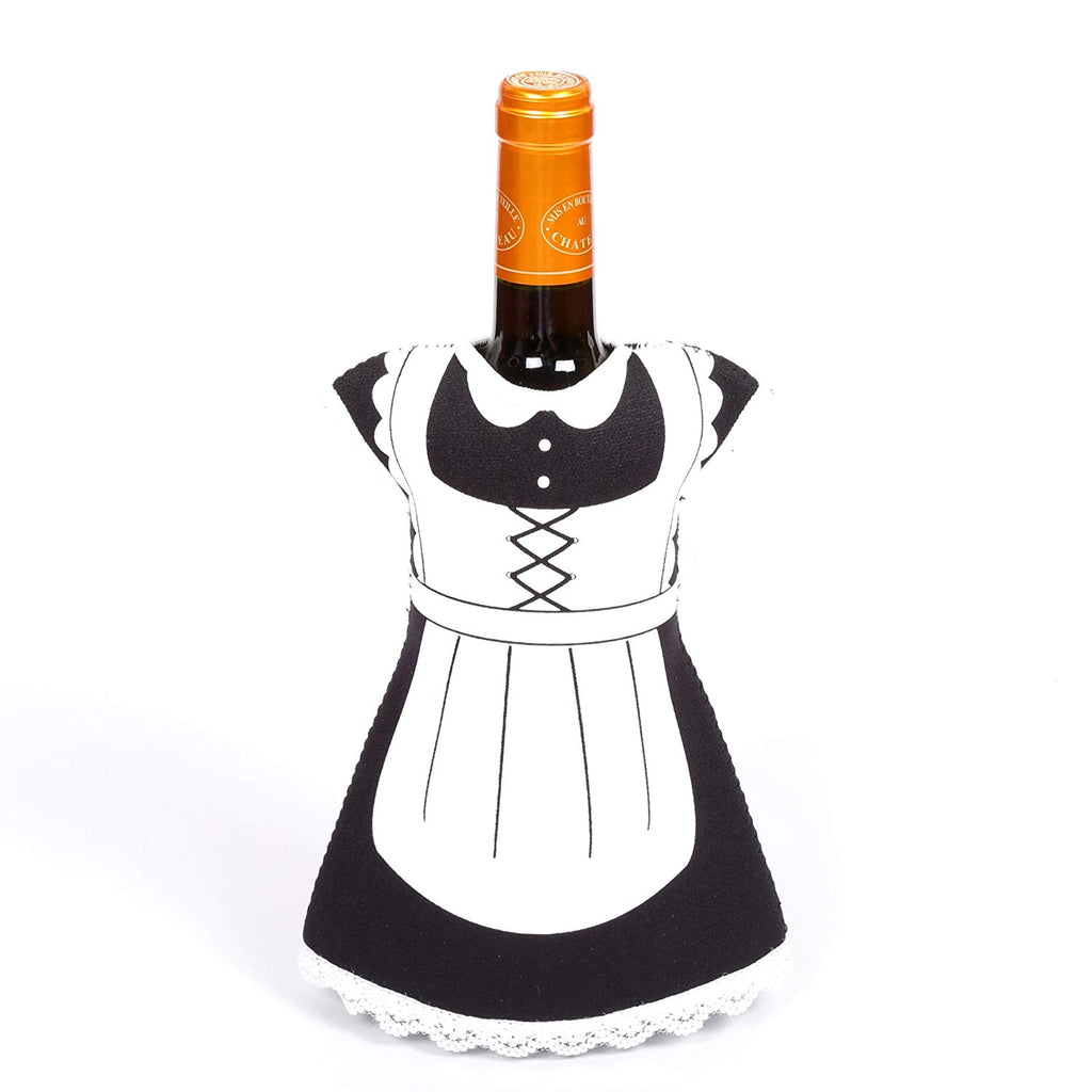 Creative Home Neoprene Party Maid Shape Wine Bottle Cover, Jacket