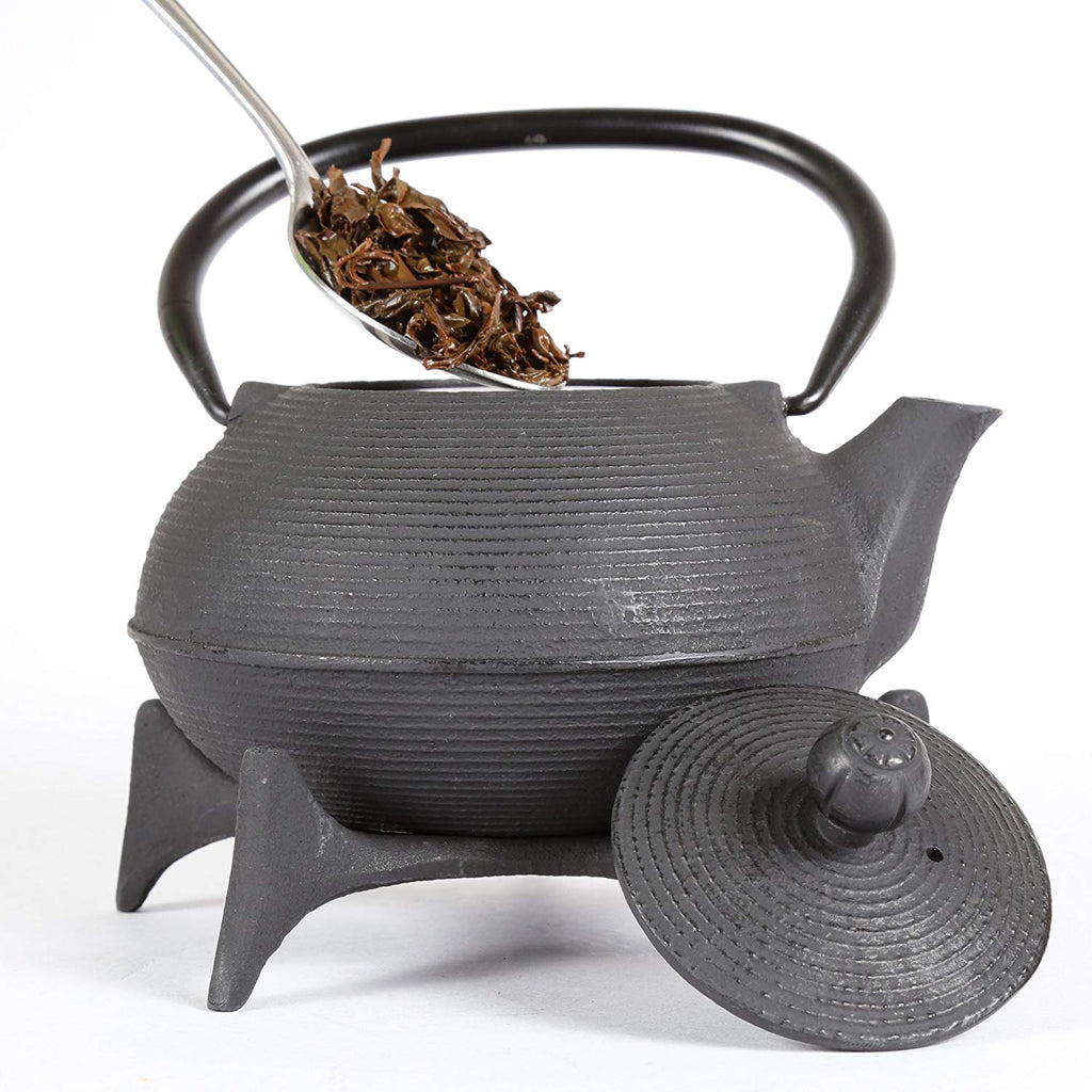 2 Piece Kyusu Tea Pot/Trivet Set, 30 oz, Black