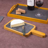 Pine Wood with Slate Insert Cheese Paddle Board, Serving Board