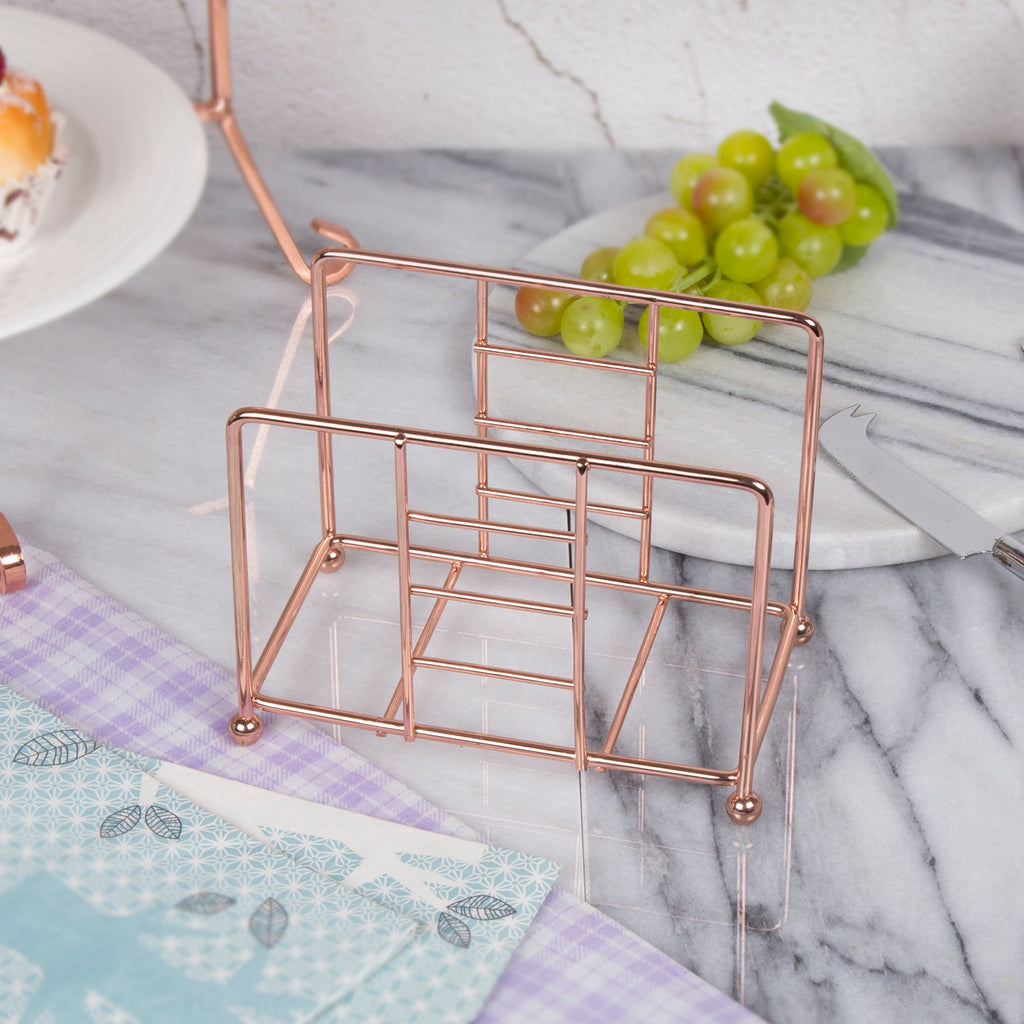 Creative Home Copper Plated Metal Napkin Holder, Tissue Dispenser