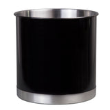 Heavy Gauge Stainless Steel Black Tool Crock, Utensil Flatware Holder, Wine holder, Large