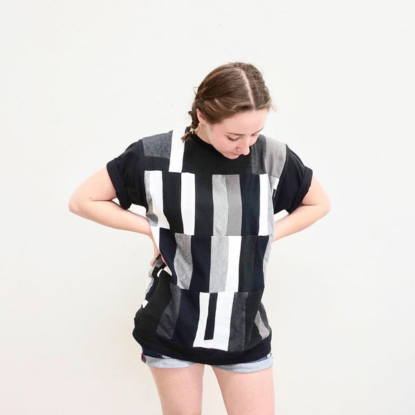 Black and White Patchwork Tee