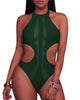 See Through Mesh Cutout Monokini - Tempt Me